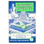 Blackburn Rovers v Chelsea 1960 September 19th League (date has been amended in pen original print