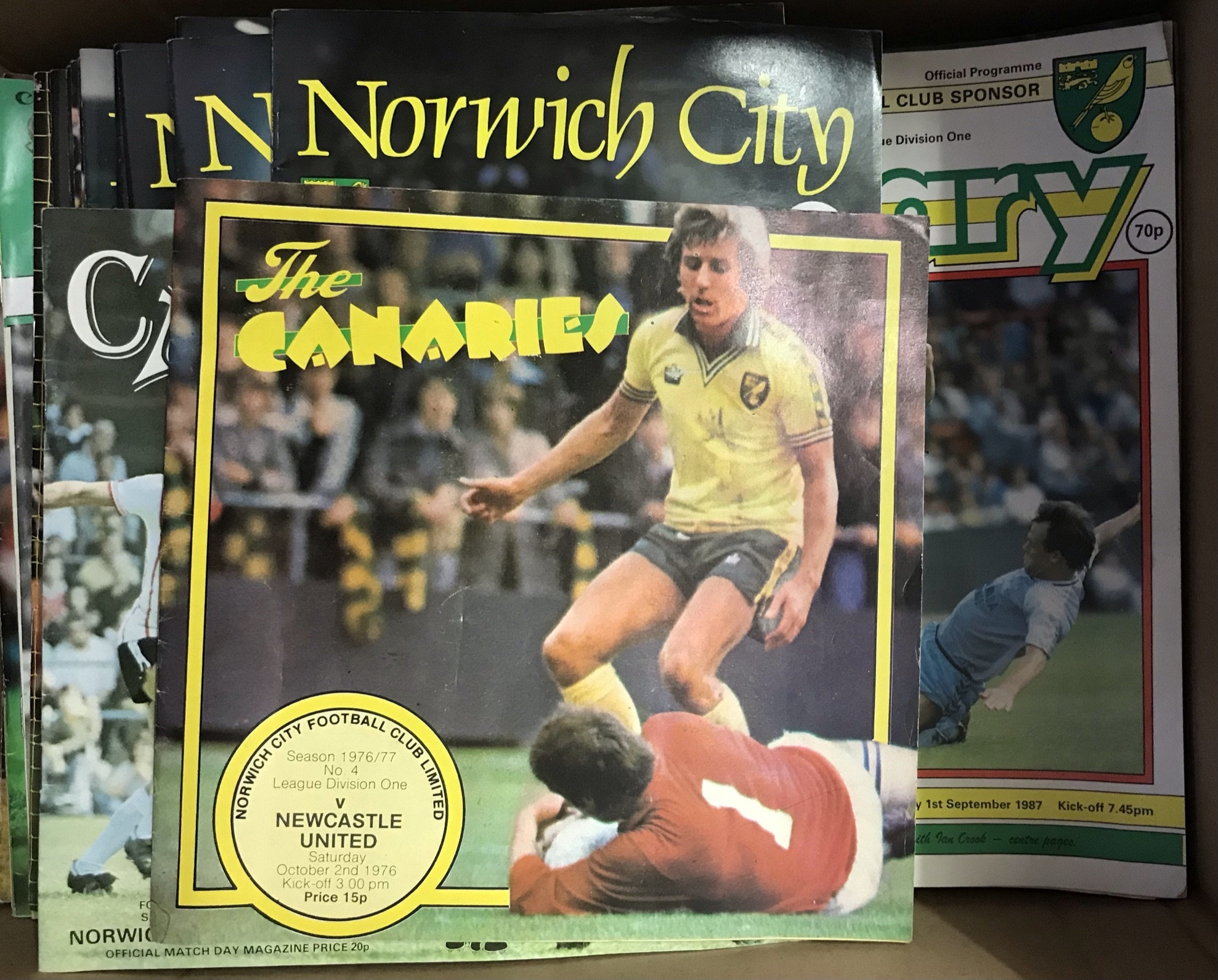 Norwich City Football Club - 1972-1979 - nice clean range of programmes (57). Buyer collects this
