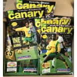 Norwich City Football Club - 1994-1998 - nice clean range of programmes (89). Buyer collects this
