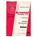 Arsenal v Chelsea 1964 September 26th League