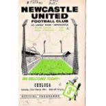 Newcastle United v Chelsea 1963 March 23rd League team change and score in pen, attendance and score