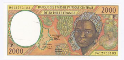Central African State (Chad) - 1994 2000 Francs Ref P3b, AUNC
