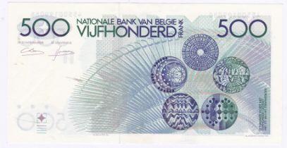 Belgium - 1980 (ND) Five Hundred Francs Grade AUNC.