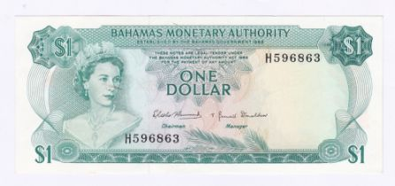 Bahamas - 1968 1 Dollar, P27, AUNC