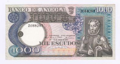Angola - 1973 1000 Escudos, P108, AUNC.