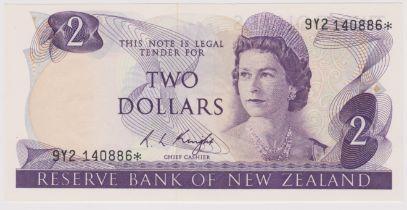 New Zealand 1981-5 Reserve Bank Two Dollars, Purple, Knight, AUNC