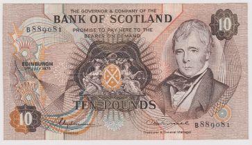 Bank of Scotland £10 3 July 1975, SC 134a, Prefix B, GVF/NEF