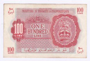 Libya - British Military Authority in Tripolitania 100 Lire, Pick M6, AEF