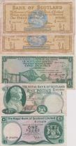 Scotland (Mixed) RB £1 1/9/67, RBS Ltd £1 5/1/72, BoS £1 (2) 1/6/66 Nat Comm Bank of Scotland etc