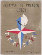 1951 Festival of Britain Guide, Lambeth Edition with a buff cover, good condition