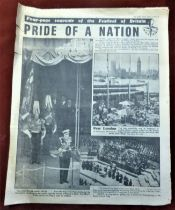 1951 October 1st, Souvenir Four Page Souvenir of the Festival of Britain, Daily Graphic.