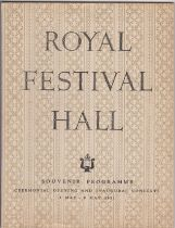 1951 Royal Festival Hall Souvenir Programme - Ceremonial Opening and Inaugural Concerts 3 May - 9