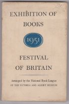1951 Festival of Britain Exhibition of Books, arranged by The National Book League, at the
