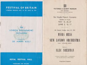 1951 Festival of Britain - the London Philharmonic Orchestra, Conductor Sir Adrian Boult, Royal