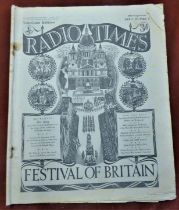 1951 Festival of Britain Radio Times April 29 - May 5, Television Edition in fair condition, quite