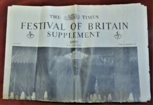1951 Festival of Britain - The Times Festival Supplements all in good condition