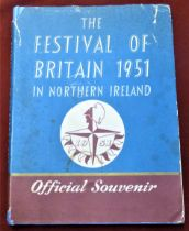 1951 The Festival of Britain in Northern Ireland official Souvenir, hardback with some faults to the
