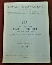 1951 Royal Tournament Earls Court Official Programme, some user wear to cover