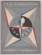 1951 Festival of Britain - Birmingham, Leeds, Manchester & Nottingham Guide Catalogue, with a grey
