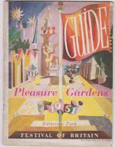 1951 Festival of Britain - Pleasure Gardens, Battersea Park Guide in good condition