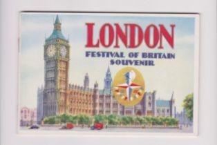 "1951 London Festival of Britain Souvenir Brochure, ""Memories of London 'The Worlds"" Greatest City."
