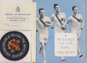1951 Festival of Britain - The Boys Brigade Run Souvenir Brochure, Leave of Absence for a chain of