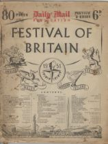 1951 Festival of Britain - Daily Mail 80 page Preview and Guide, some wear at page edges and the