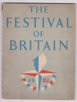 1951 The Festival of Britain - Grey cover official book printed by HMSO and in good condition