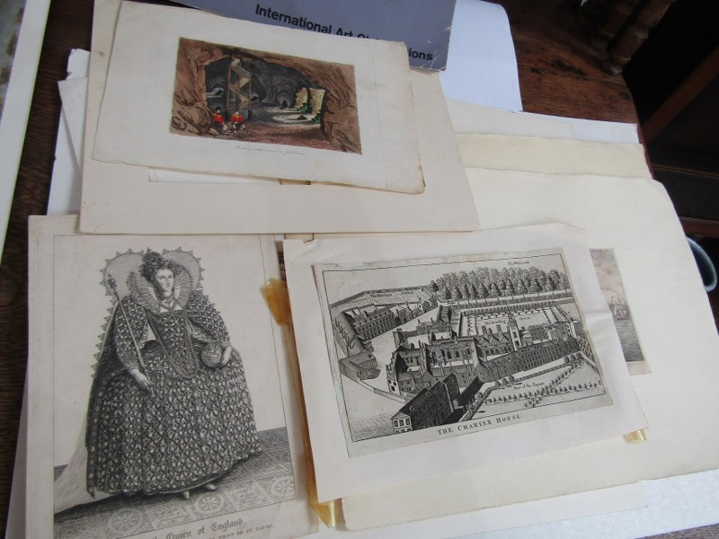 FOLIO OF ENGRAVINGS & PRINTS, including 19th Century engravings of London etc, also various - Image 3 of 8