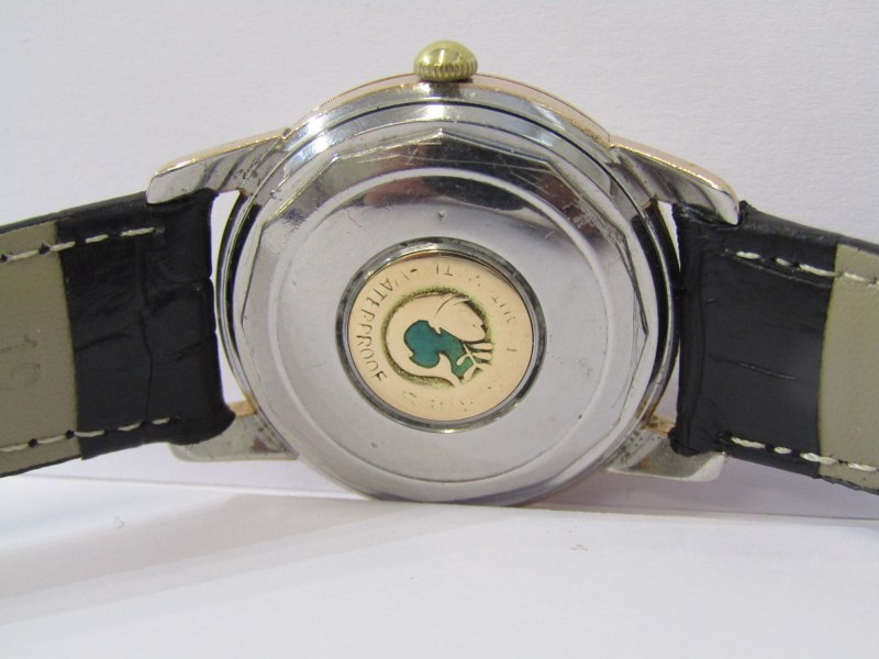 GENTLEMAN'S LONGINES CONQUEST AUTOMATIC WRIST WATCH on black leather strap, serial no 9767092, - Image 3 of 3