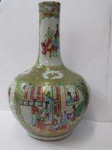 "ORIENTAL CERAMICS, 19th Century Canton 15.5"" onion design vase, decorated with alternating panels of"