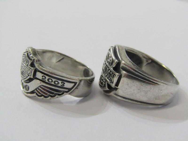 2 SILVER HARLEY DAVIDSON RINGS - Image 2 of 2