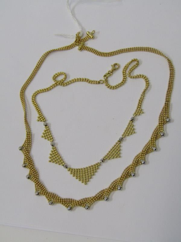 2, 18ct YELLOW GOLD NECKLACES, combined weight approz 24.8grams