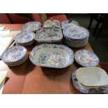 MASONS IRONSTONE, matched dinnerware comprising of pair of lidded entree dishes, 29 graduated plates