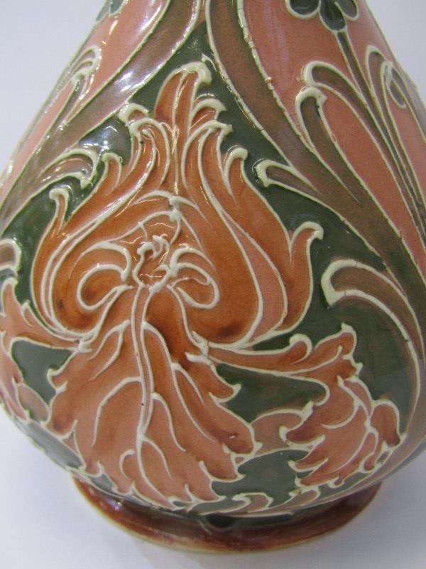 "MACKINTYRE, ""Florian Ware"" 8"" baluster vase, signed by Moorcroft, registration no 326689 - Image 2 of 3"
