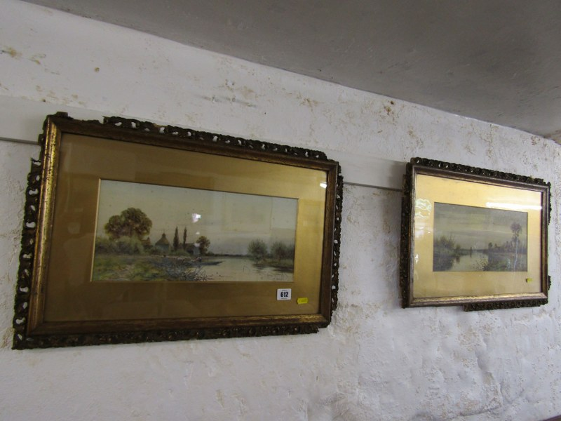 "ROBERT WINTER, pair of signed watercolours ""Near Sudbury on the Stour"" and ""South Bradon,"