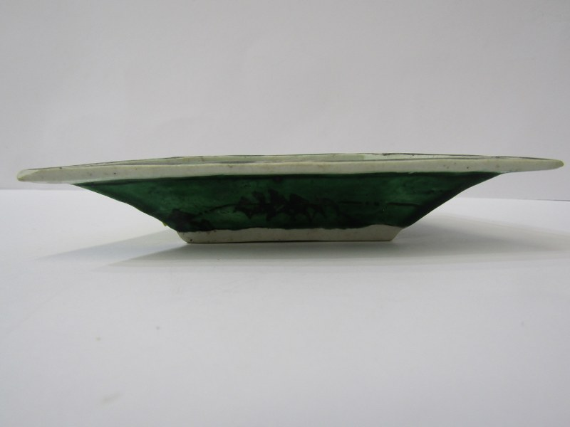 "ORIENTAL CERAMICS, floral encrusted 5"" lidded vase (rim damage) Famille Verte small hor d'oeuvres - Image 14 of 19"