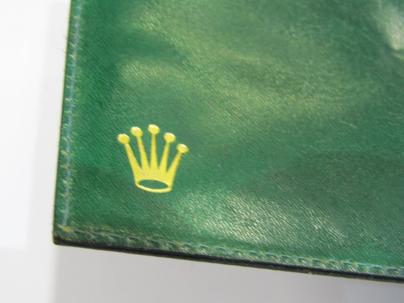 GREEN LEATHER ROLEX WALLET - Image 2 of 3