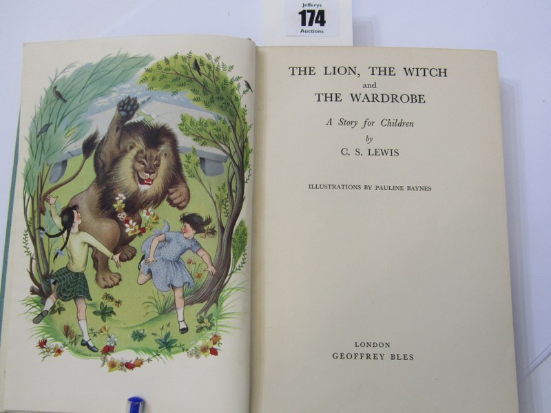 FIRST EDITION, 'The Lion, The Witch and The Wardrobe' 1950 first edition by C. S. Lewis, original - Image 2 of 4