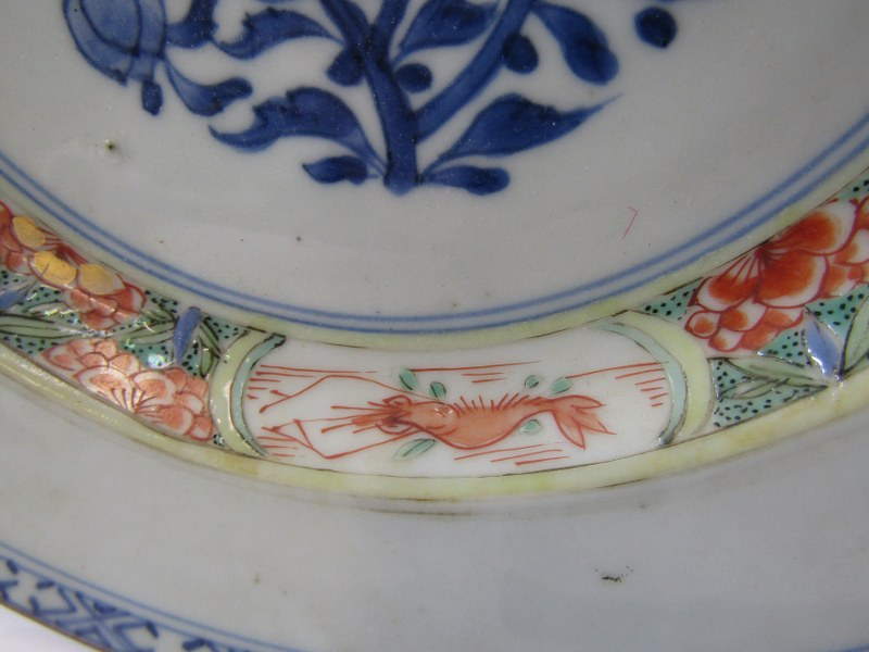 "ORIENTAL CERAMICS, Chinese export ""Bamboo"" pattern dessert plate, 9"" diameter, also similar - Image 3 of 9"