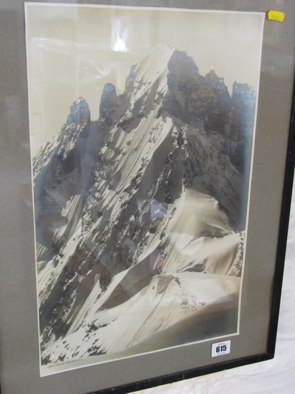 "PHOTOGRAPH, signed Alpine photograph ""Das Espaltenhorn"", 17.5"" x 11.5"" - Image 2 of 3"