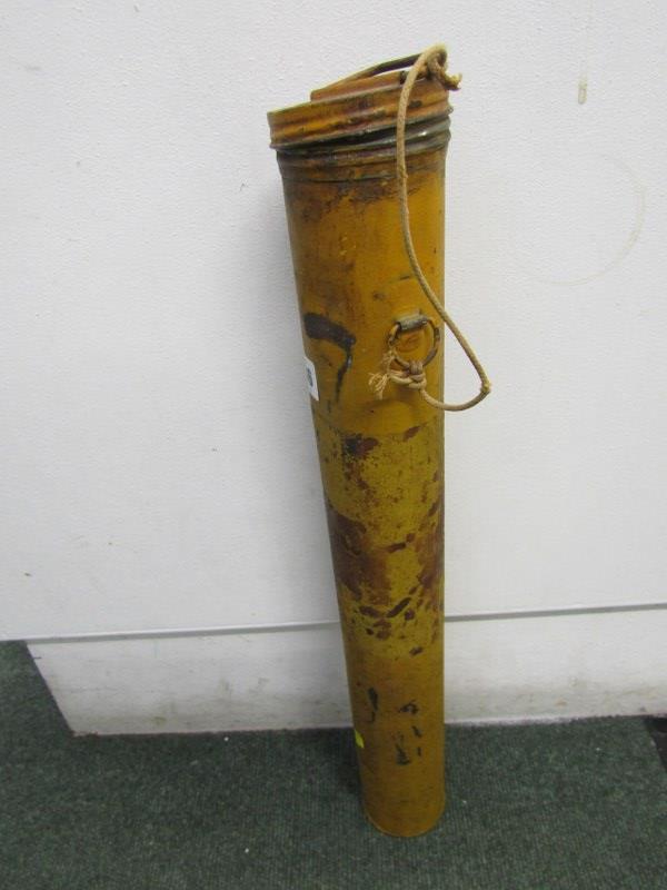 "WWII original metal cased weather kite, 22"" height"