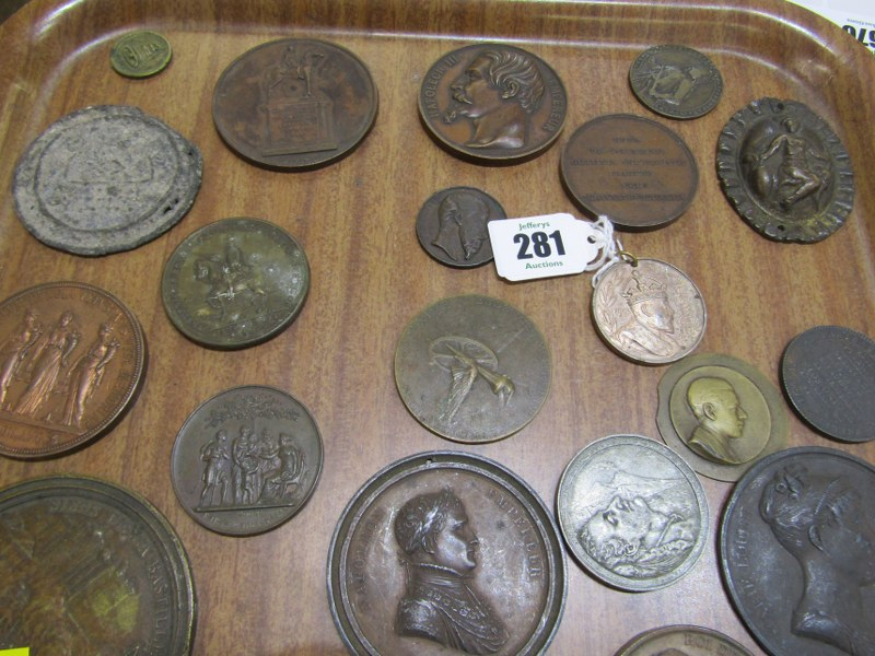 MEDALLION COLLECTION, a collection of approx. 48 medallions & tokens, English & Continental - Image 2 of 3