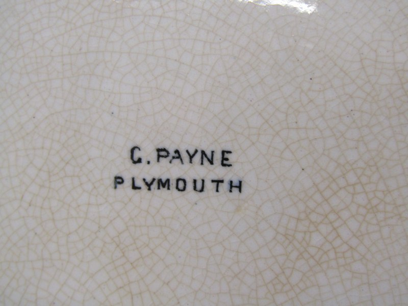 """PLYMOUTH MEMORIAL PLATE, octagonal earthen ware plate """"Designed for the Tercentenary Armada - Image 2 of 2"""