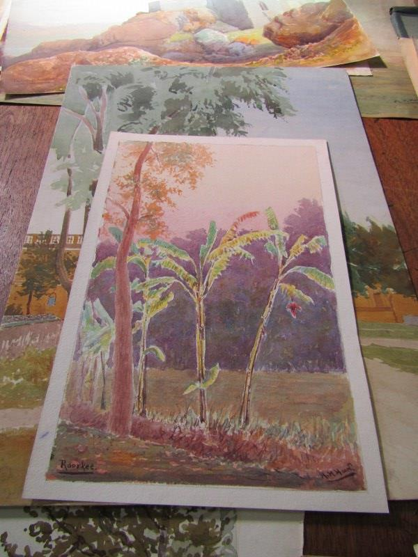 COLONEL H.H. HART, collection of 19 unframed watercolours, mainly depicting Indian landscapes - Image 3 of 6
