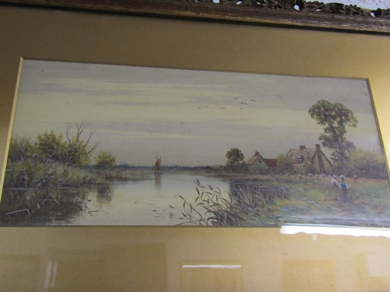 "ROBERT WINTER, pair of signed watercolours ""Near Sudbury on the Stour"" and ""South Bradon, - Image 4 of 4"