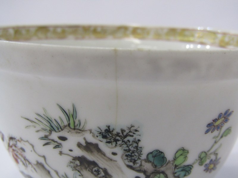 ORIENTAL PORCELAIN, collection of 5 antique oriental porcelain sake and rice bowls with hardwood - Image 6 of 10