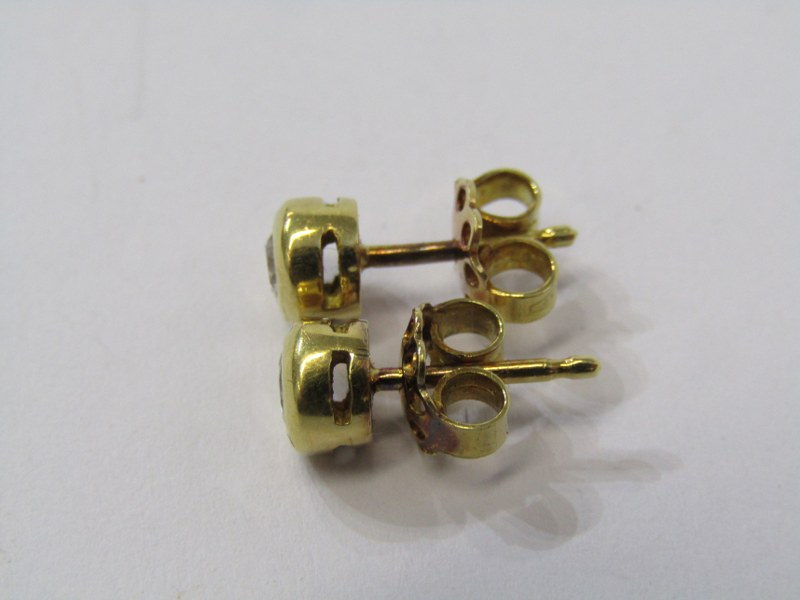 PAIR OF 18CT YELLOW GOLD DIAMOND STUD EARRINGS, total diamond weight approximately 0.30ct, bright - Image 2 of 2