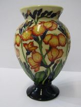 """MOORCROFT, signed limited edition 7 """" inverted baluster vase, by Paul Hilditch, no 41/60 edition"""