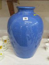 """MOORCROFT, powder blue ground large 16"""" oviform vase"""
